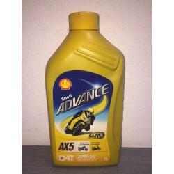 SHELL ADVANCE AX5 4T 20W50 - 1 LITRO