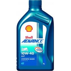 SHELL ADVANCE AX7 4T 10W40 SEMI-SINTÉTICO - 1 LITRO