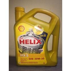 SHELL HELIX HX5 SN 20W50 MINERAL - 4 LITROS